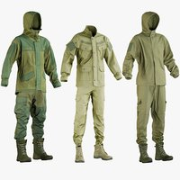 realistic hunting clothing 1 3D model