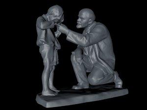 3D lenin crying boy model