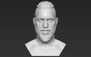 3D ragnar lothbrook vikings bust model