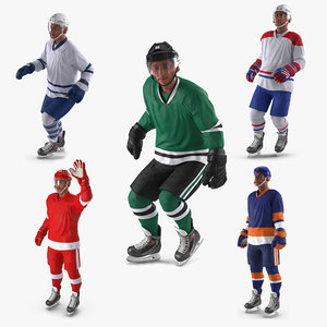 3D hockey players generic rigged