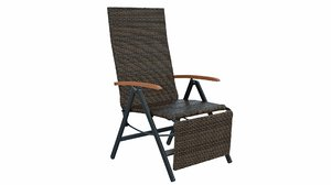 folding rattan chair 3D model