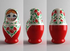 russian nesting dolls 3D model
