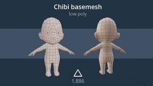basemesh chibis 3D model