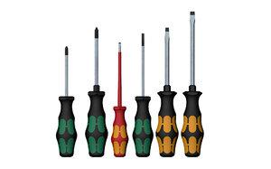 3D model set screwdrivers