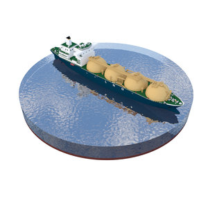 lng tanker 3D model