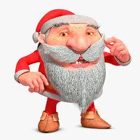 Dwarf - Santa Claus (Rigged)