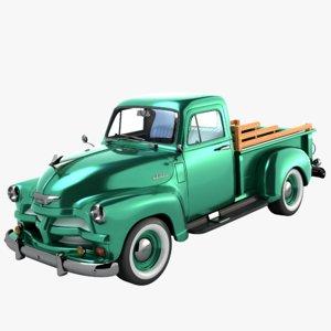 3D chevrolet pickup 1954 model