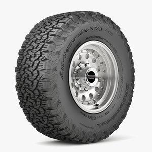 3D road wheel tire 5 model