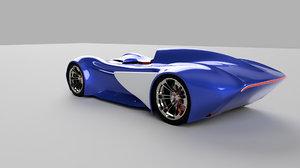 3D prototype sports car model