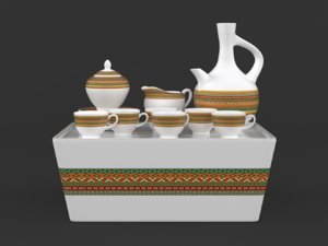 coffee cup set 3D
