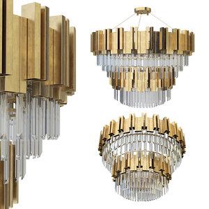 3D chandelier empire double suspension model