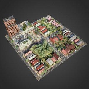 city exterior streets 3D model