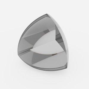 3D model simple shapes optics