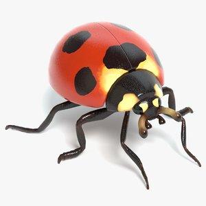 3D ladybug pbr