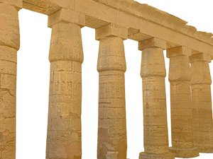 ancient pillar luxor ready 3D model