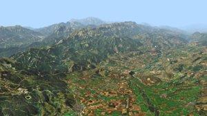 3D mountain landscape pyrenees