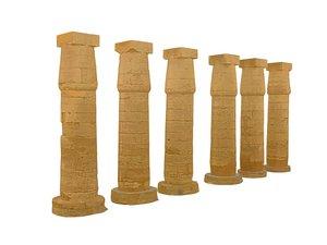ancient pillar luxor model