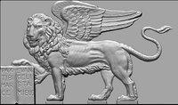leone alato venezia 3D