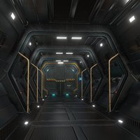 sci fi corridor  interior