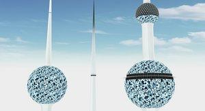 3D kuwait towers