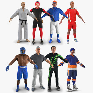 sport characters female 3D model