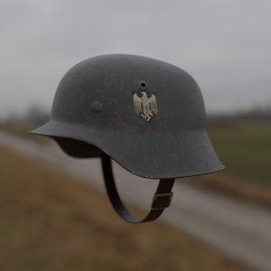 3D german ww2 helmet model