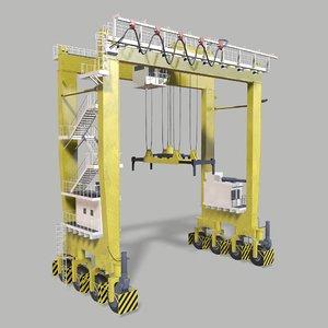3D rtg gantry crane