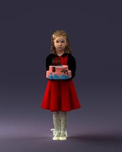 girl cake model