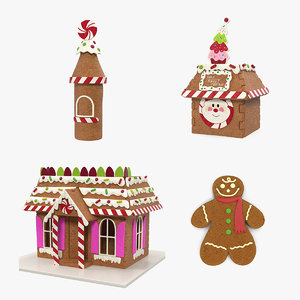 3D gingerbread cookie 3 model