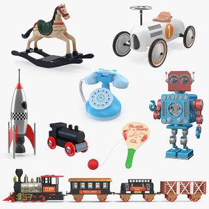 retro toys 3 3D model