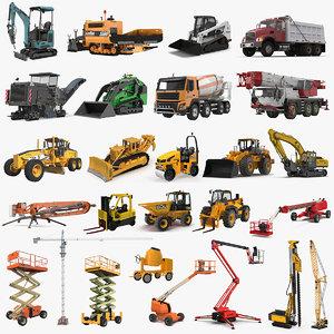 3D construction vehicles big 3