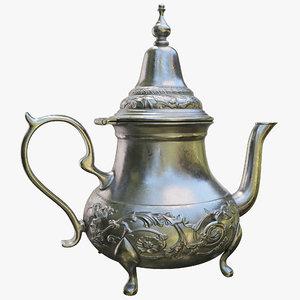 moroccan teapot 3D model