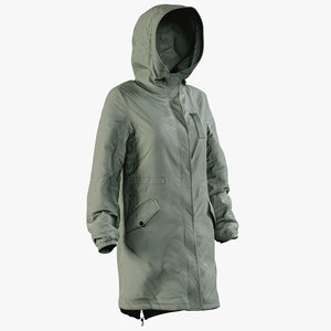 realistic womens jacket 4 3D