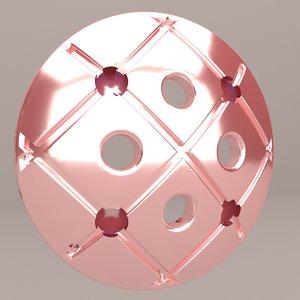 3D stylish button model