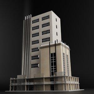 3D modern building
