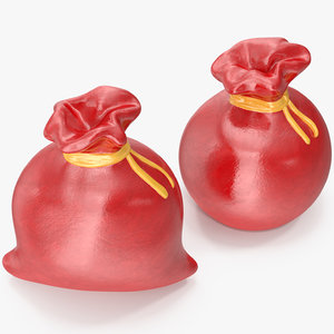 christmas bag figurines 3D