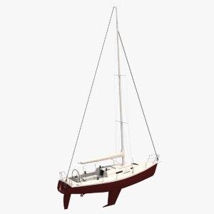 sailboat j105 3D model