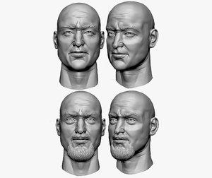 male head sculpt 3D