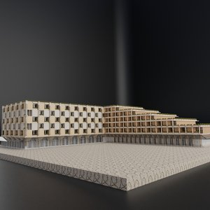 modern building architectural 3D