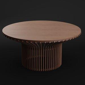 3D jazz table model