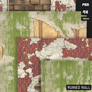PBR Textures Ruined Wall Pack