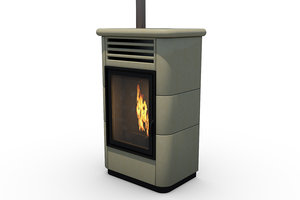 pellet stove 3D
