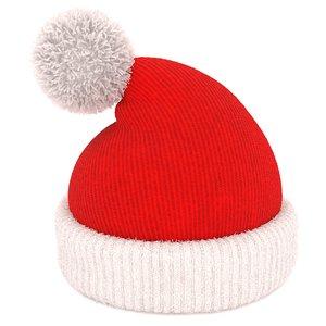 3D christmas santa hat