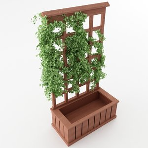 3D model trellis planter