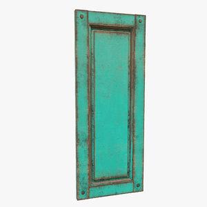 3D model old window green