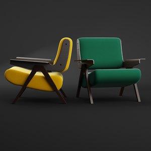 3D lina armchair tacchini model