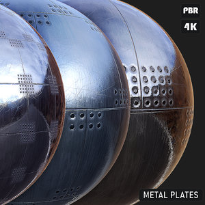 PBR Metal Plates textures