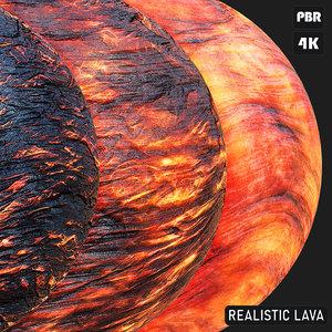 PBR Realistic Lava textures
