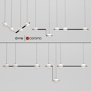 3D model laurent suspension light