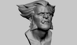 wolverine bust model